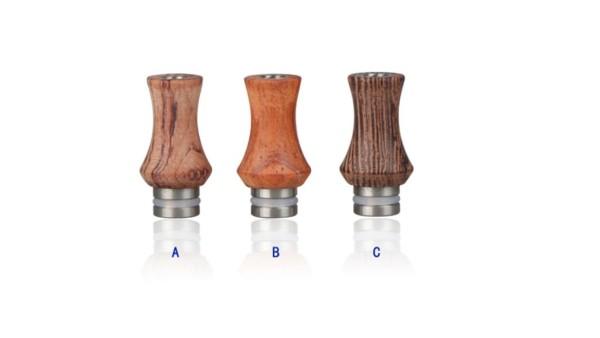 Holz Edelstahl Drip Tip tailliert schmal