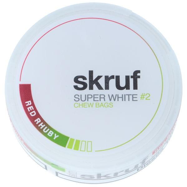 Red Rhuby Kautabak Skruf Super White