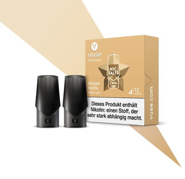 Infused Vanilla Nic Salts Caps Vuse ePen