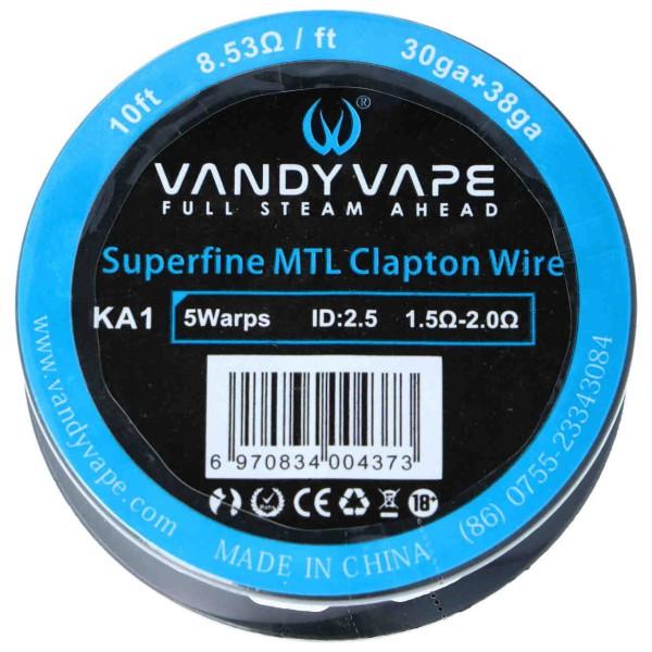 Vandy Vape Superfine MTL Clapton Draht 30ga + 38ga