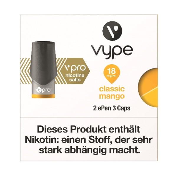 Vype ePen3Classic Mango Caps vPro 18 mg ml Nikotinsalz