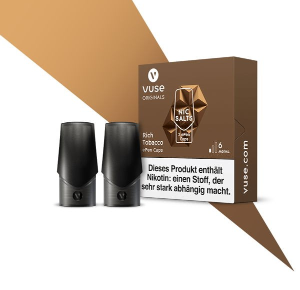 Rich Tobacco Nic Salts Caps Vuse ePen 6 mg