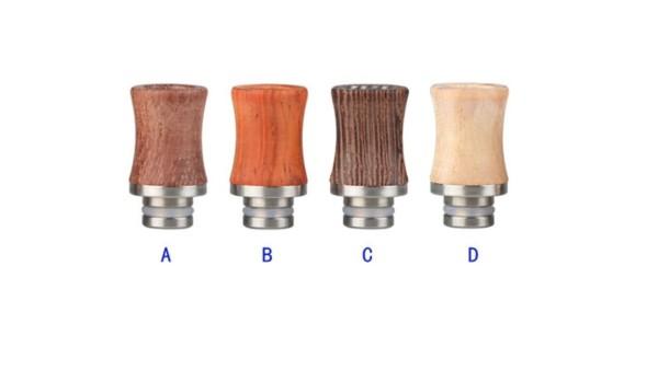 Holz Edelstahl Drip Tip tailliert breit