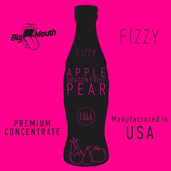 Apple | Dragon Fruit | Pear Aroma Fizzy Big Mouth