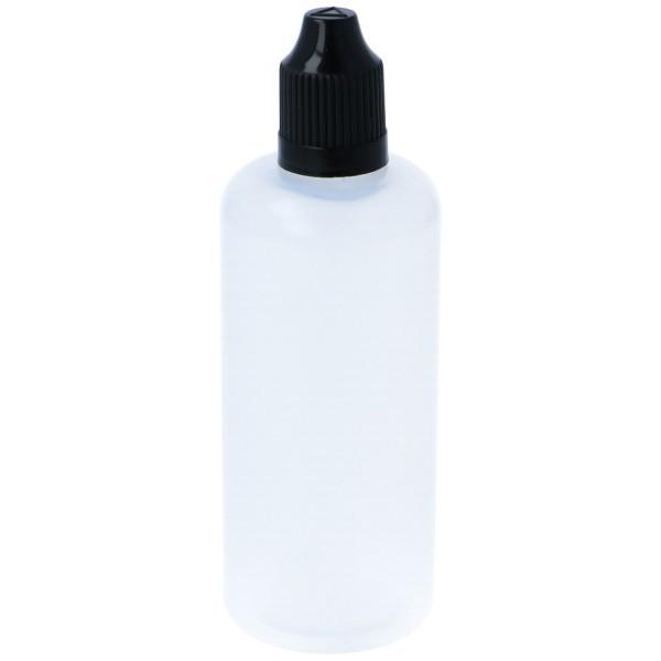 Tropf Flasche 100ml Deckel Schwarz