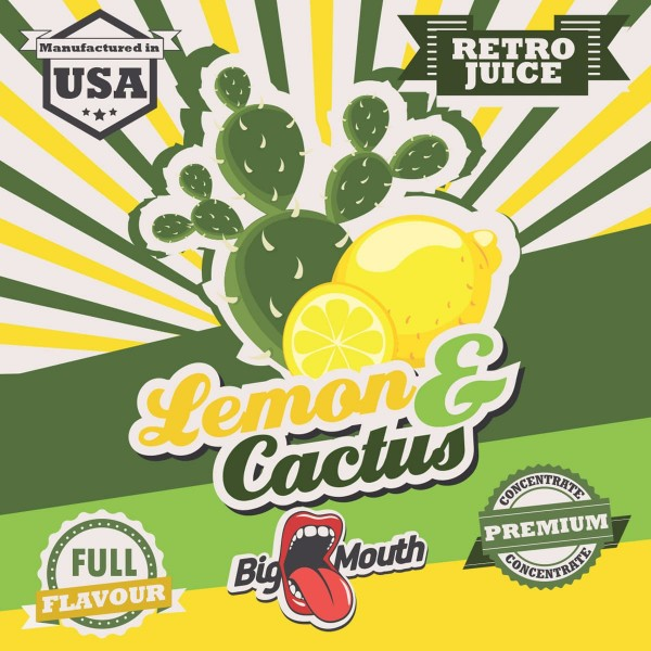 Lemon & Cactus Aroma Retro Juice Big Mouth