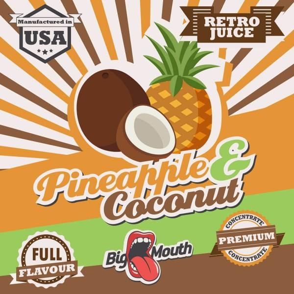 Pineapple & Coconut Aroma Retro Juice Big Mouth