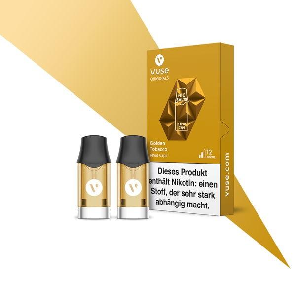 Golden Tobacco Nic Salts Caps Vuse ePod