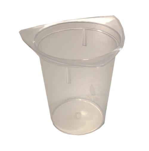 Messbecher 3 Ausgießer 100 ml mit Skala