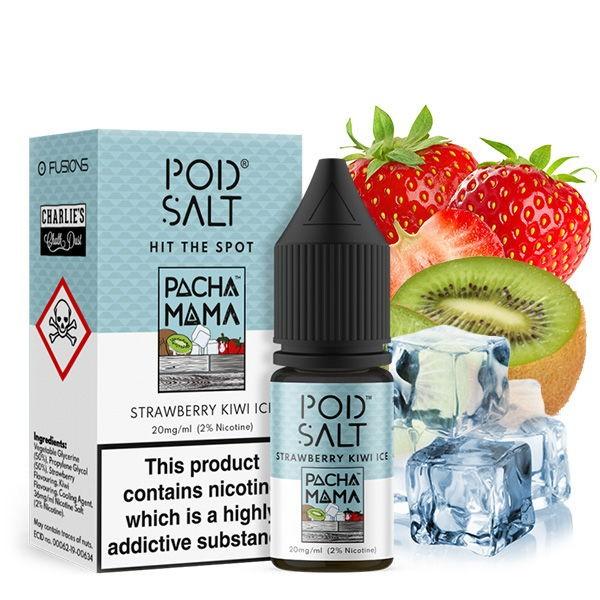 Pacha Mama Strawberry Kiwi Ice Liquid Pod Salt Fusion