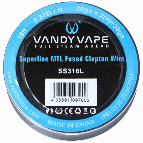 Vandy Vape Superfine MTL Fused Clapton Draht 30gax2+38ga
