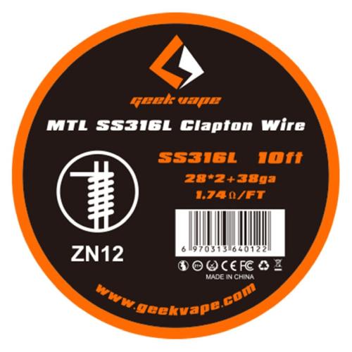 GeekVape MTL Wickeldraht SS316L Clapton
