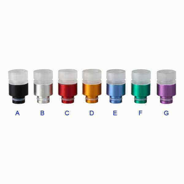 Aluminium Transparent Acrylic Drip Tip