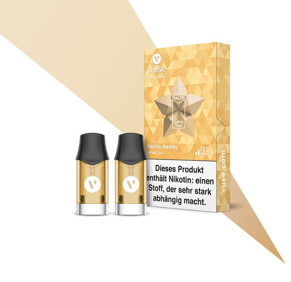 Vanilla Medley Nic Salts Caps Vuse ePod