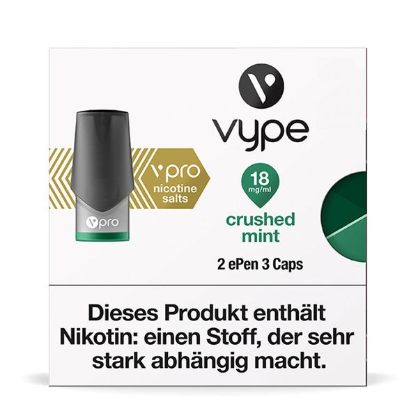Crushed Mint Caps vPro Vype ePen3