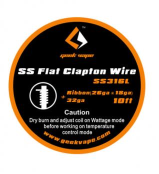 Geekvape SS Flat Clapton Wire SS316L