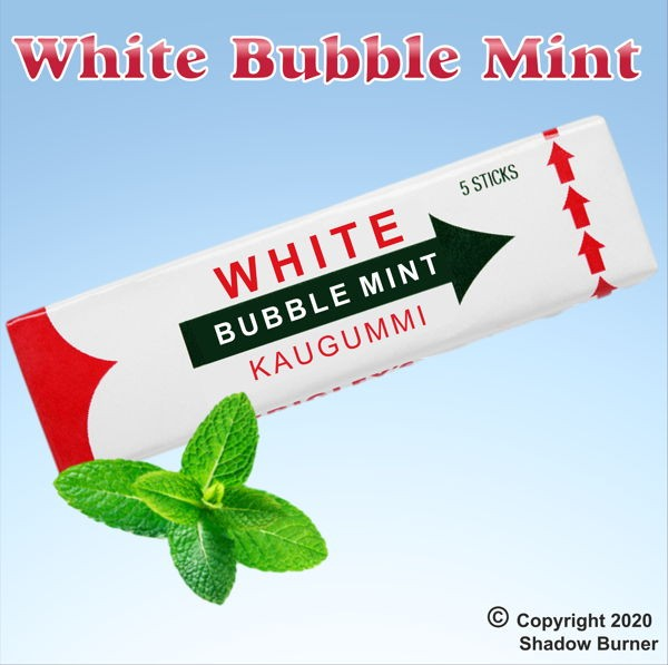 White Bubble Mint Aroma Shadow Burner