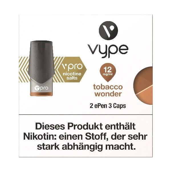 Vype ePen 3 Tobacco Wonder Caps vPro 12mg ml Nikotinsalz