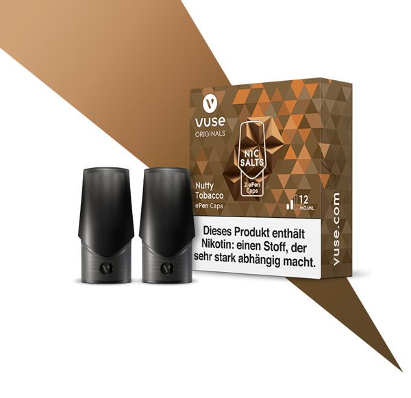 Nutty Tobacco Nic Salts Caps Vuse ePen