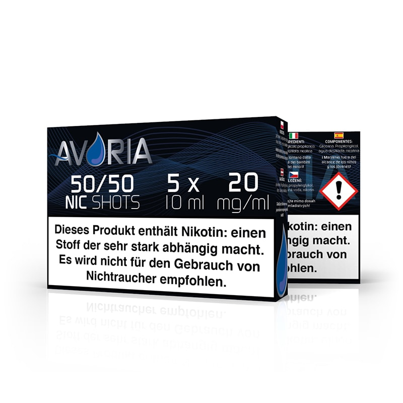 NikotinShot 20 mg / ml Avoria (5 x 10 ml)