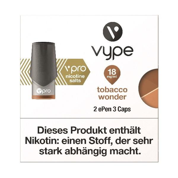 Vype ePen 3 Tobacco Wonder Caps vPro 18mg ml Nikotinsalz